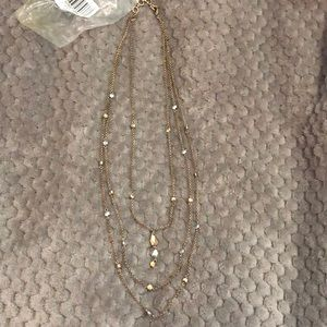 Lucky Brand Layered Gold and Silver Necklace